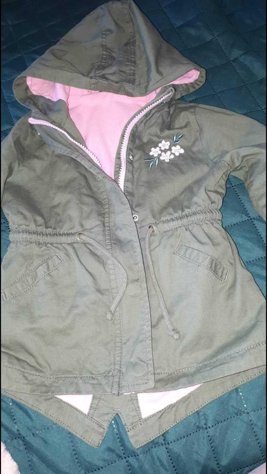 Kurteczka i kamizelka dla dziewczynki wiosna 92-98