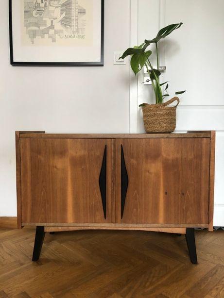 Komoda sideboard po renowacji midcentury 60 design vintage prl stara
