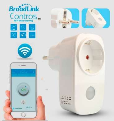 Tomada inteligente WiFi Broadlink, controlo remoto telemóvel -Domotica