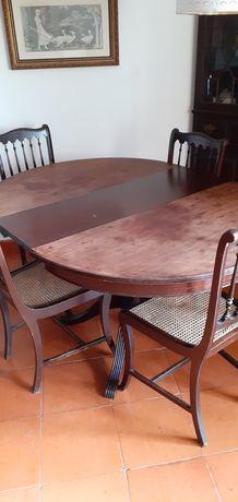 Mesa pė de galo + 4 cadeiras