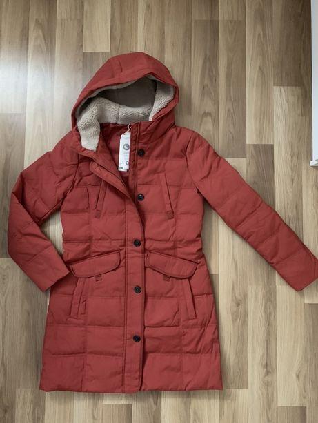 Nowa kurtka płaszcz zimowy Esprit rozm. S/M z kapturem