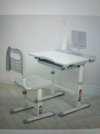 Растишка парта детский письменный школьный стол и стул Ортопед.наклон