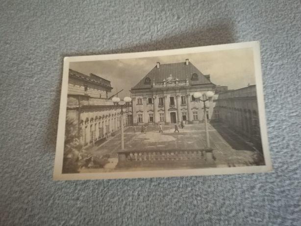 Pocztówka Warszawa Trasa W-Z Pałac pod Blachą