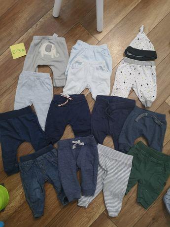 13x spodnie dziecięce 0-3m