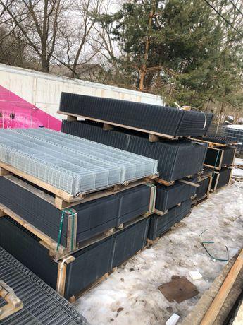 Panele Ogrodzeniowe 153x250 fi 4mm Grafit/Czarny/Ocynk/Zielony/Brąz