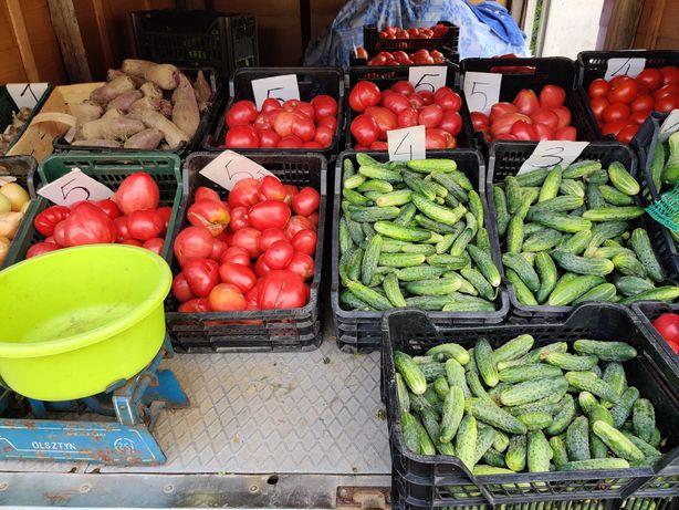 Ogórki, pomidory, buraczki itp. z własnej hodowli