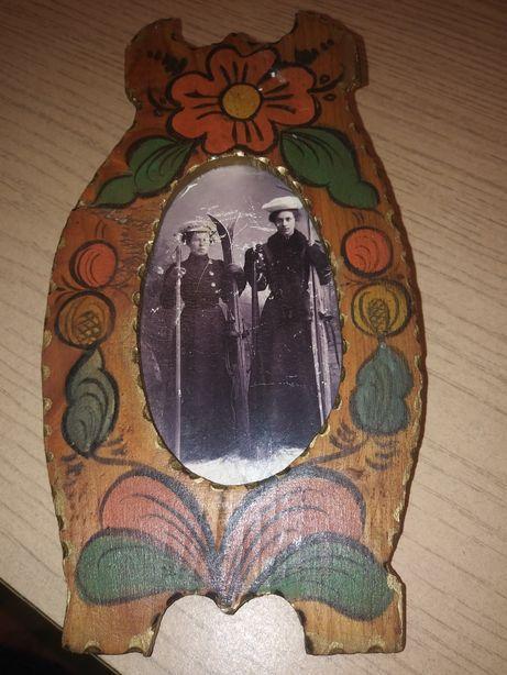 Stare zdjęcie NARCIARKI starocie antyk