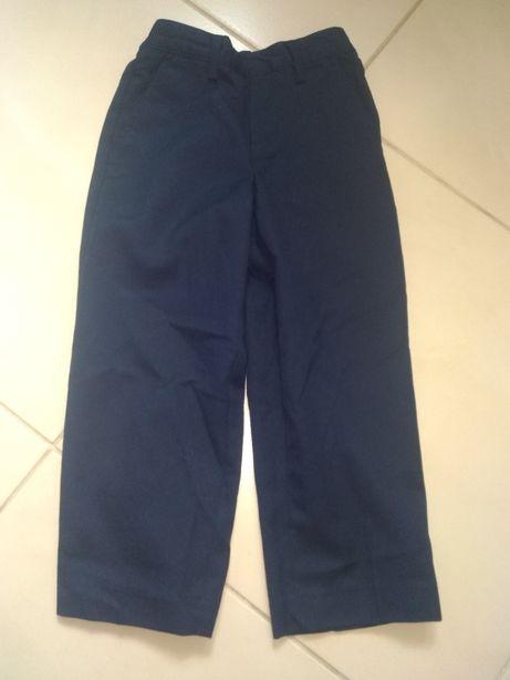 Eleganckie spodnie z materiału garniturowe rozm.104