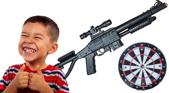 Karabin dla dzieci zabawa prezent strzela
