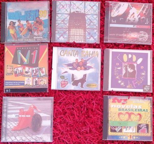 Lote de 8 cds Fernando Tordo, Canta Bahia, dEUS ... alguns selados