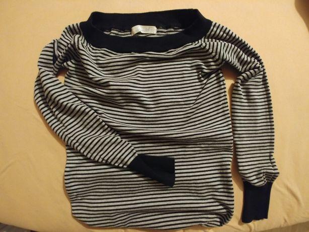 Szeroki dekold w łódkę, sweter sweterek 36 S