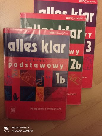 Alles klar 1 b, 2b ,3 - język niemiecki.