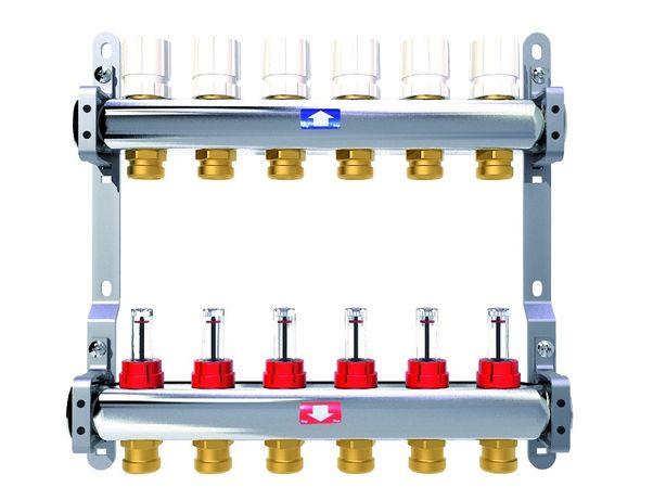 Распределительный коллектор с расходомерами Itap 3-12 выходов