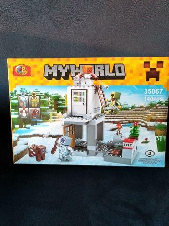 Minecraft Klocki Myworld ala minecraft NOWE o jakości lego 140szt -4fi