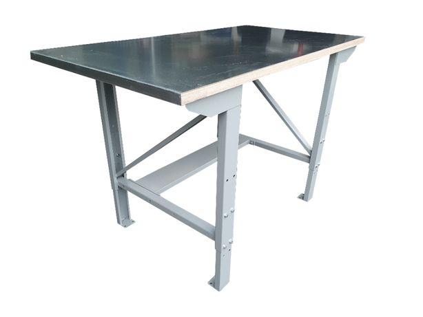 Nowy stół warsztatowy 140x80x(82-97) cm blat sklejka 28 mm plus 1.5 mm