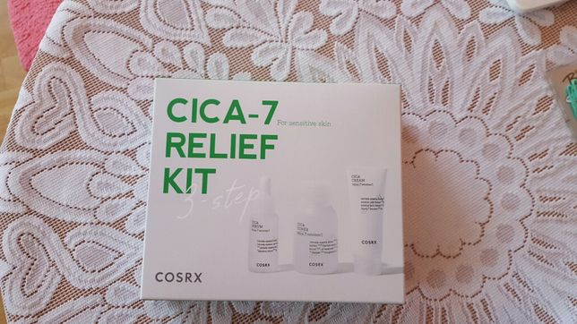 COSRX Minizestaw CICA Do Skóry Wrażliwej Tonik + Serum + Krem