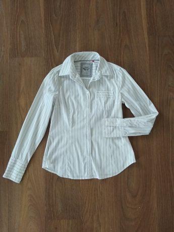 Klasyczna koszula biała w paski prążki Esprit 38
