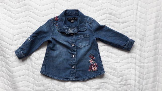 Koszula jeansowa dziecięca Primark roz 68 z haftem
