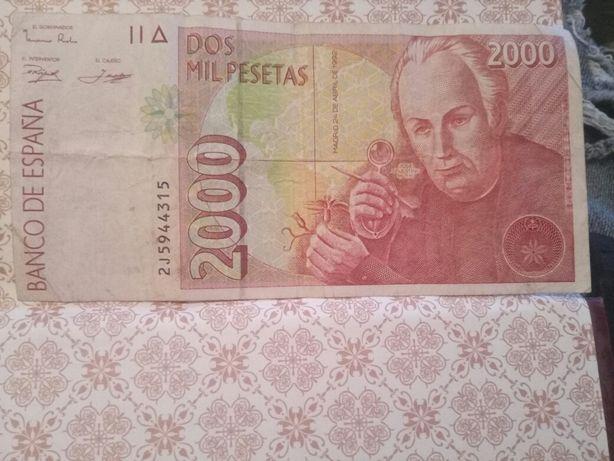 dos mil pesetas,1992