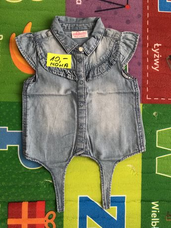 Bluzeczka jeansowa wiązana w pasie 74