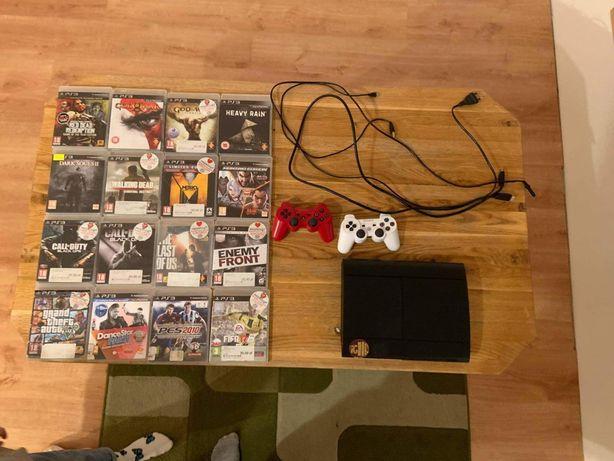 PlayStation 3 superslim + 21 gier Red Dead Redemption God of War