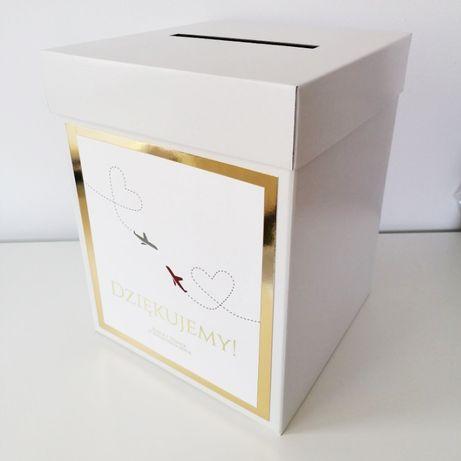 Pudełko na koperty weselne z motywem podróży