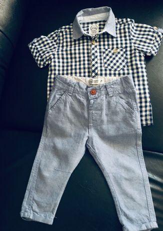 Elegancki komplet dla chłopca w rozmiarze 74. Koszula + spodnie