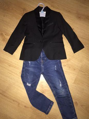 Marynarka chlopieca NOWA HM rozm. 92. Spodnie george wycierane jeansy