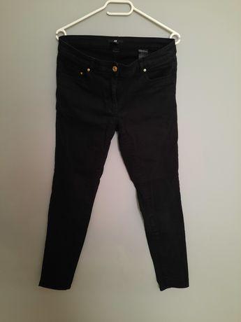 Spodnie jeansy czarne H&M L 40