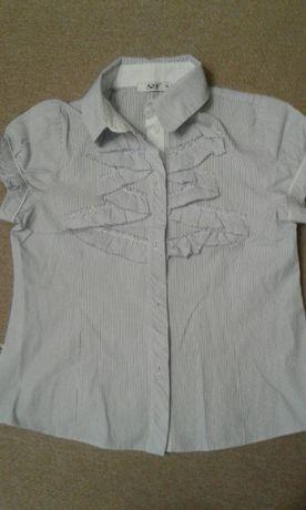 Блуза с коротким рукавом для школы 128 см в дар