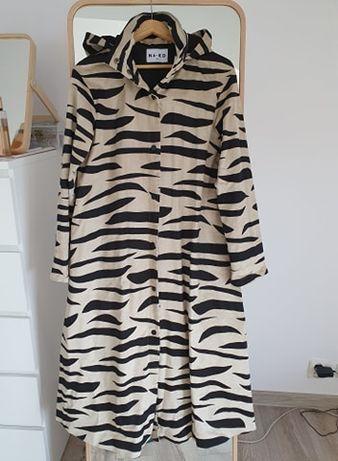 NA-KD Parka z kapturem Zebra, płaszcz, XS, 34