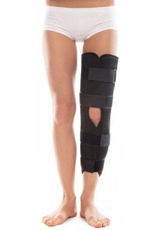 Жесткая шина лангета тутор бандаж колена ортез для коленного сустава