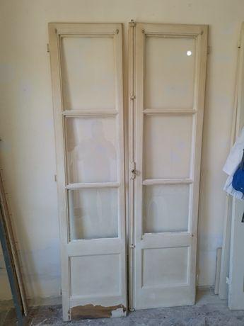 Janelas, Portas antigas com vidros