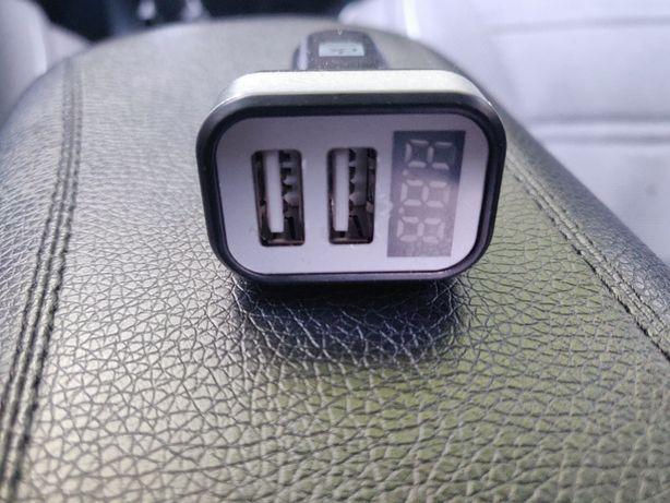 Адаптер автомобільний (прикурювач - USB) 2USB