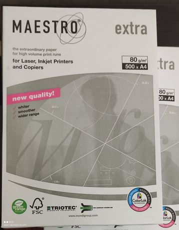 Офисная бумага Maestro Extra A4 80г/м 500л класс А+ белизна