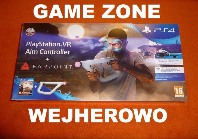 Farpoint + Aim Controller PS4 + Slim + Pro + VR = Gra + Karabin + Move