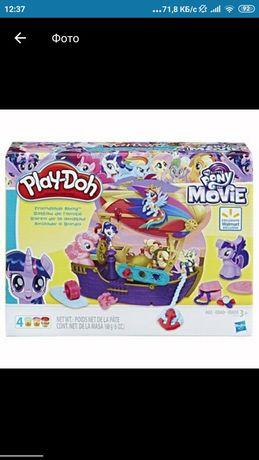 Формочки play doh do pony my little пони корабль плей до