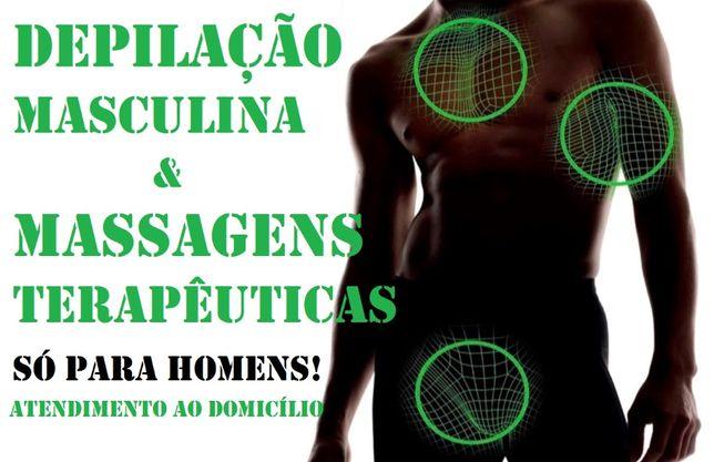 Cortes de Cabelo, Depilação Masculina e Massagens para Homens