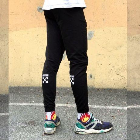 Спортивные штаны в стиле Off White X черные (брюки)