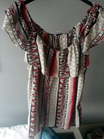 bluzka hiszpanka Tally Weijl azteckie wzory 40 - M, L