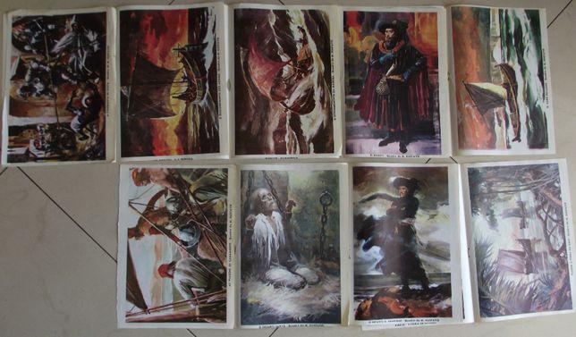 9 cromos posters do Jornal do Cuto - Quadros da História de Portugal