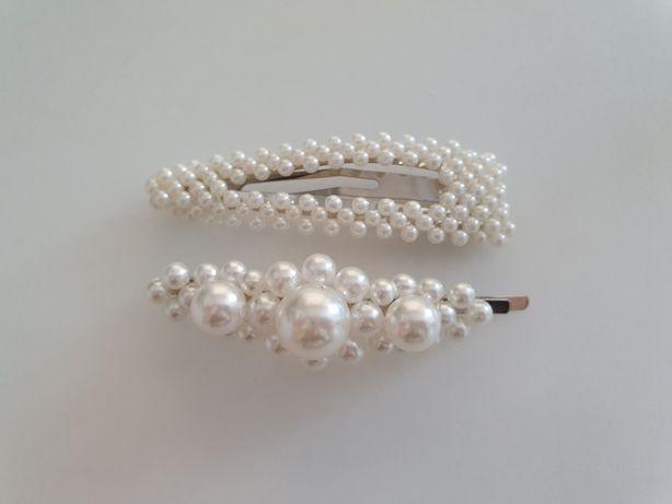 Perłowe spinki