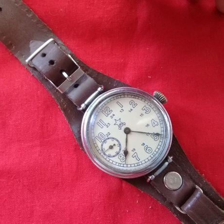 Часы СССР, К-43, Кировские -1941 г.в.,военные. кожанный ремешок.