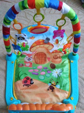 Детский музыкальный развивающийся коврик