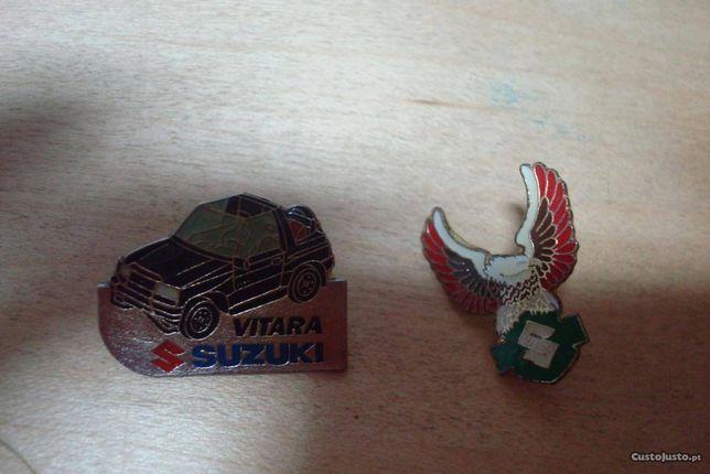 lote 5 pins marcas de carro ford seat , suzuki etc