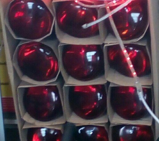 красная лампа для обогрева животных инфракрасная 150вт 250вт