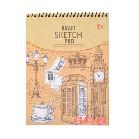 Бумага для рисования крафтовая А5 А4 А3 альбом для эскизов крафт