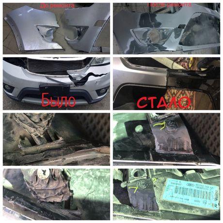 Восстановление пластиковых элементов авто (бампера, фары)
