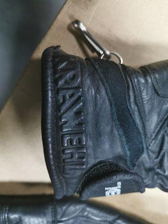 Rękawice motocyklowe damskie skórzane z kevlarem