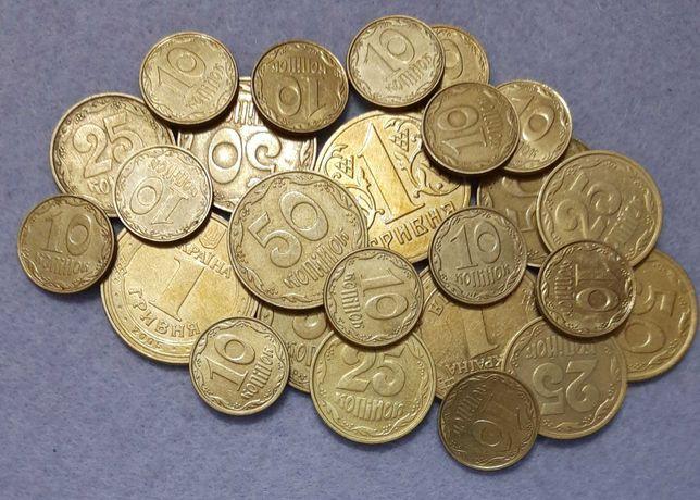 Обмен мелочи Украины-10,25,50коп,1грн,на купюры + подарок